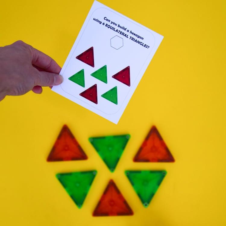 Magna Tile Challenge Cards