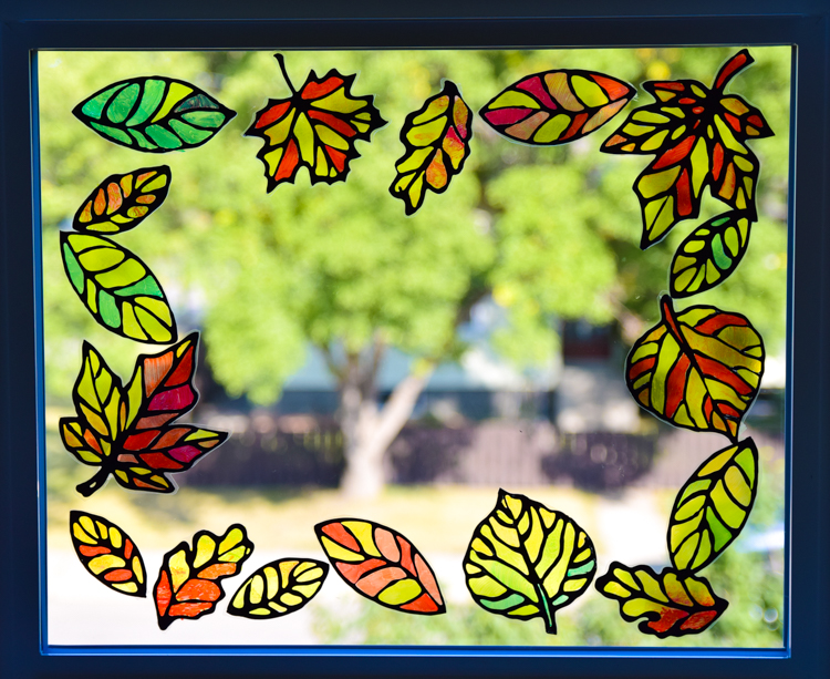 Stained Glass Leaf Suncatcher Template