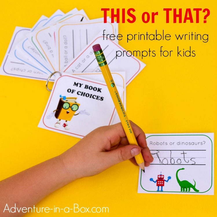 photograph about Writing Prompt Printable known as My Guide of Options: Creating Prompts for Kindergarten and