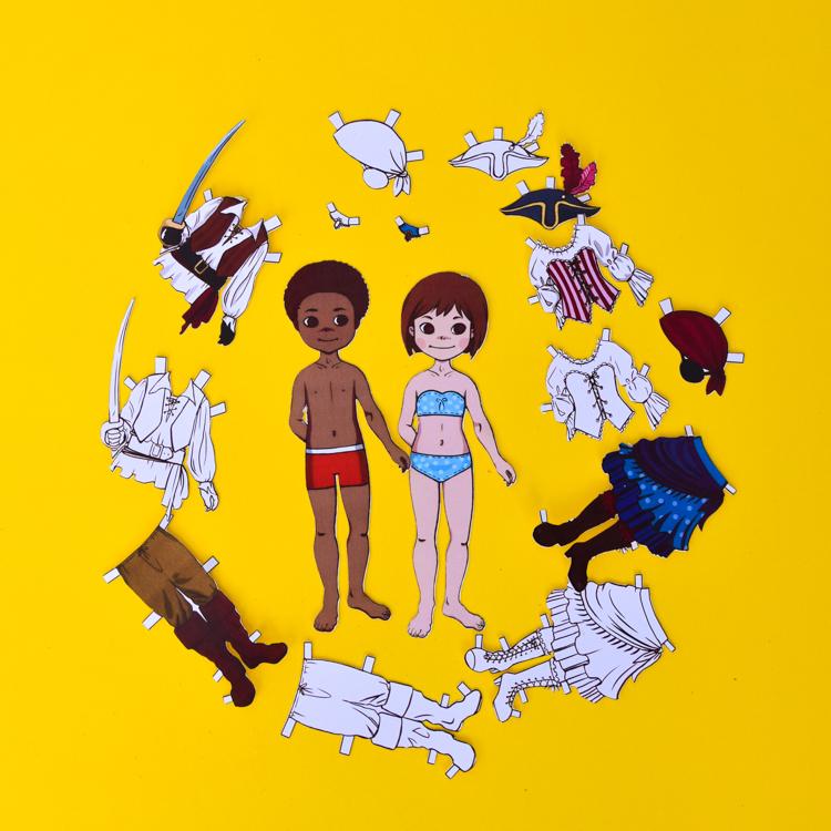 Pirate Dress-Up Dolls: Free Printable Templates