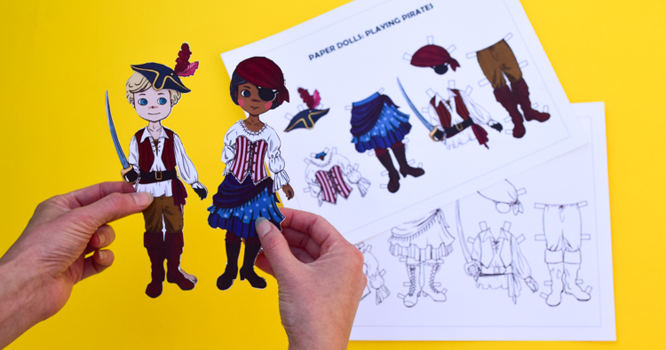 Pirate Dress-Up Paper Dolls: Free Printable Craft