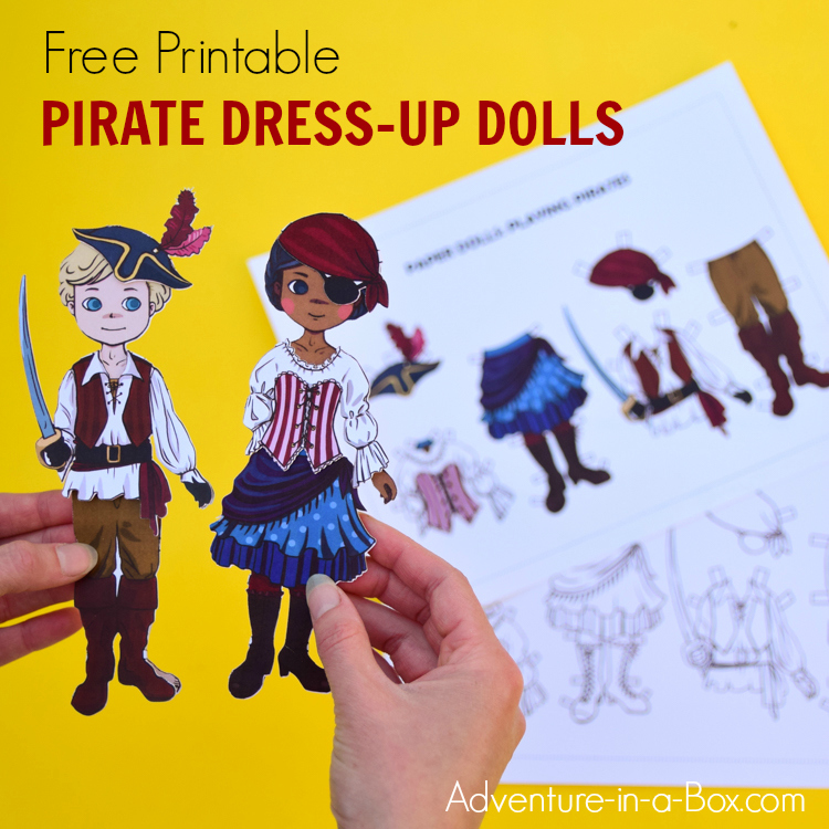 picture about Free Printable Paper Crafts known as Pirate Gown-Up Paper Dolls: Absolutely free Printable Craft