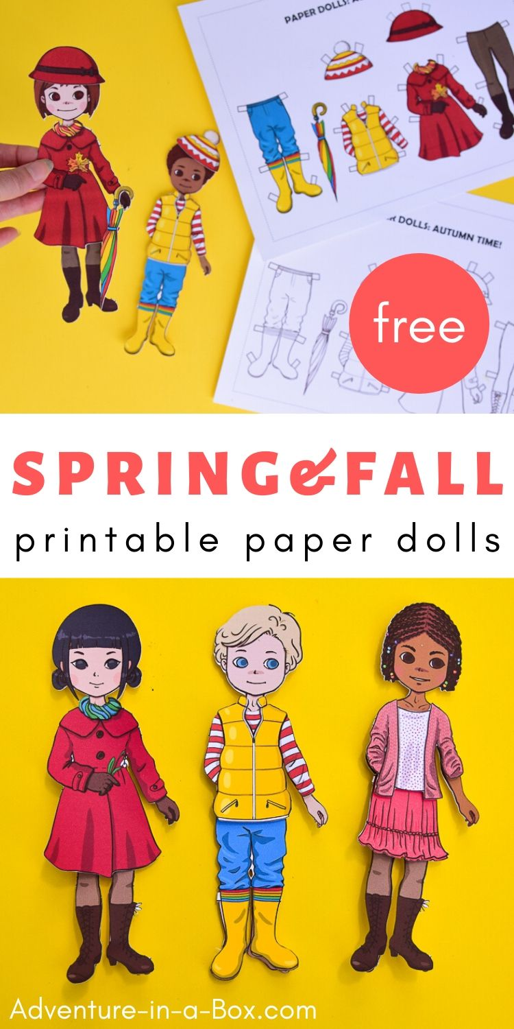 Spring and Autumn Printable Paper Dolls