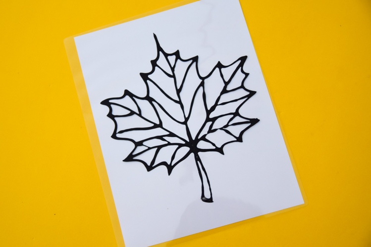 Stained Glass Leaf Suncatcher With Free Printable
