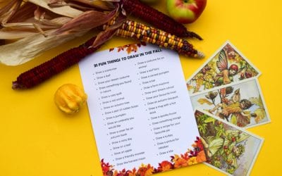 Fun Things for Kids to Draw in the Fall