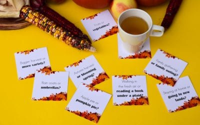 Ice Breaker Questions for Kids at the Autumn Table