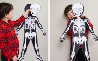 Life-Size Printable Skeleton for Kids