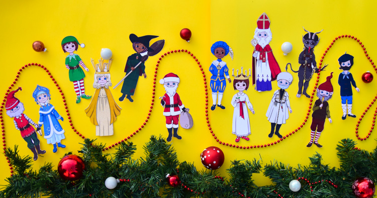 Christmas Around the World for Kids with Printable Paper Dolls