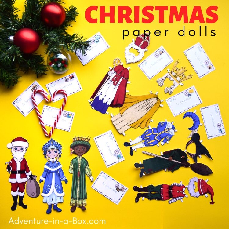 Christmas Around the World Paper Dolls