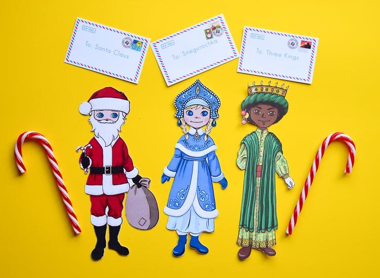 Christmas paper dolls