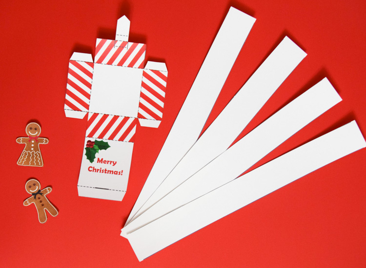 Christmas jack-in-the-box templates