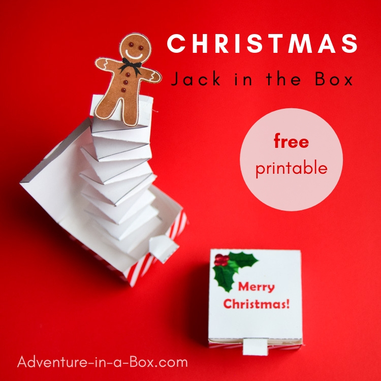 photo regarding Jack in the Box Printable Application named Do-it-yourself Xmas Jack-inside-the-Box with a Gingerbread Guy Pop-Up