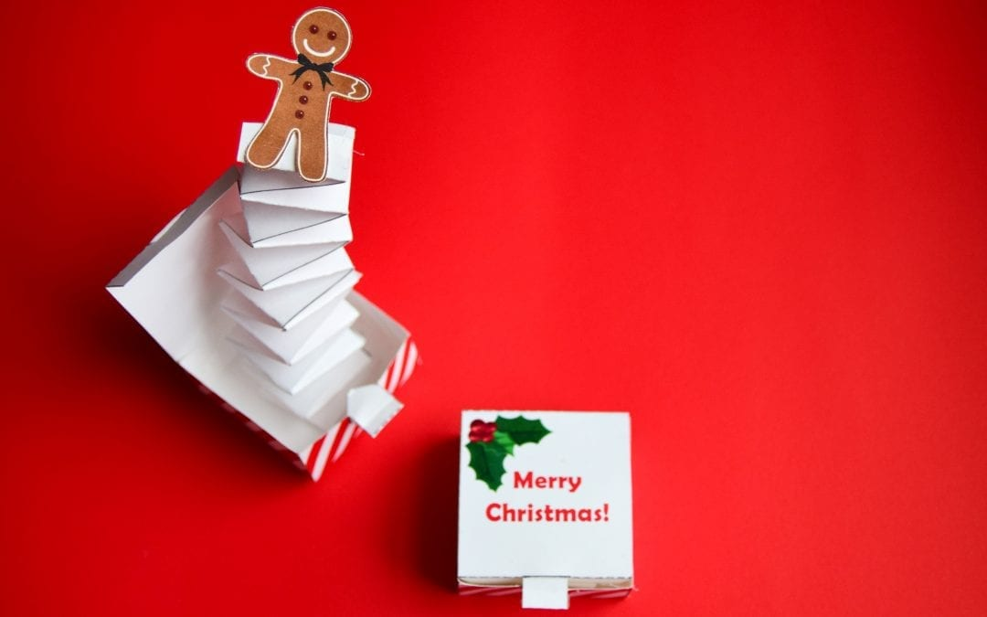 DIY Christmas Jack-in-the-Box with a Gingerbread Man Pop-Up