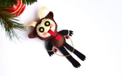 Make a DIY Krampus Christmas Ornament from Felt