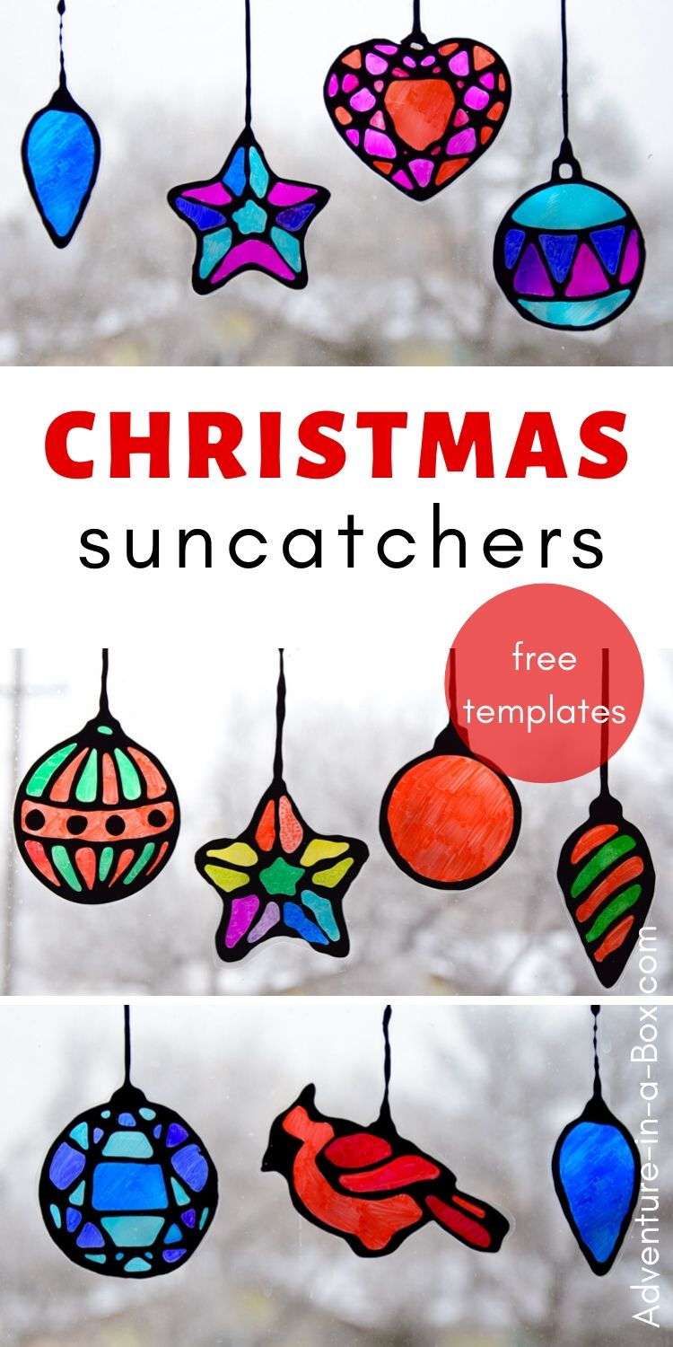 Christmas suncatchers for kids
