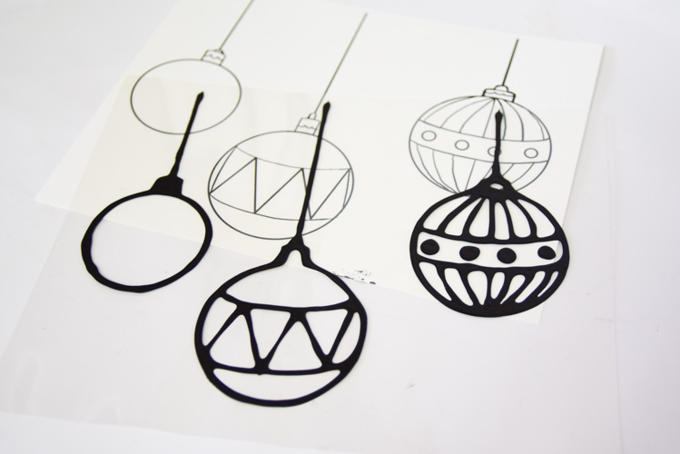 Christmas suncatcher templates