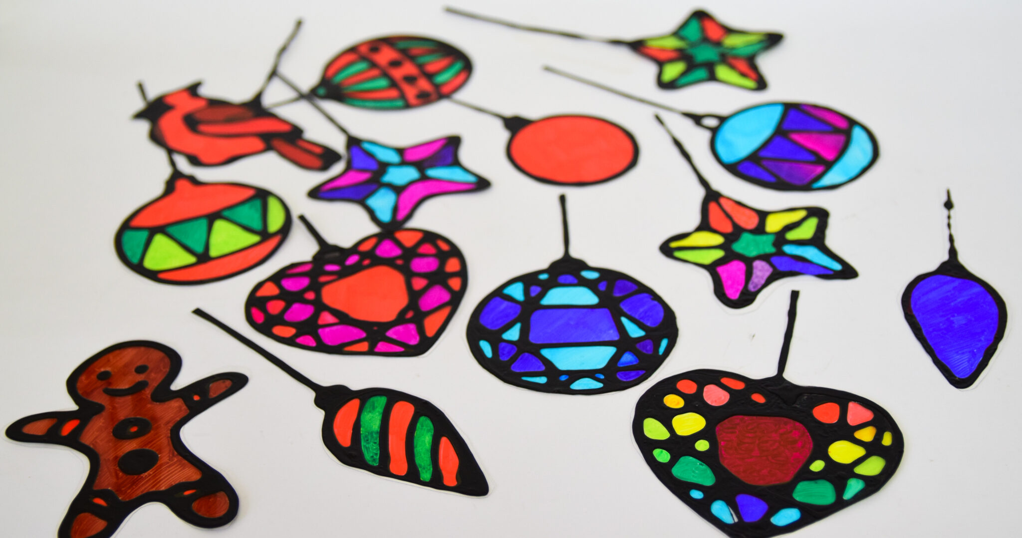 Stained Glass Christmas Suncatchers With Free Printable Templates Adventure In A Box