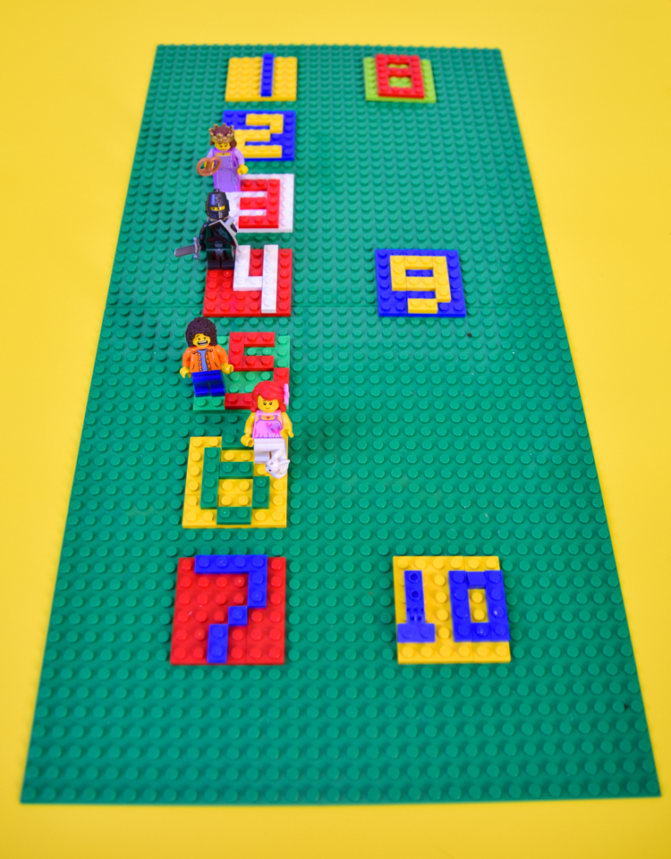 LEGO score board for playing board games