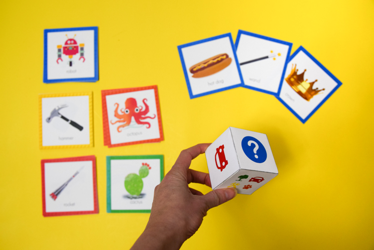 LEGO Pictionary game components