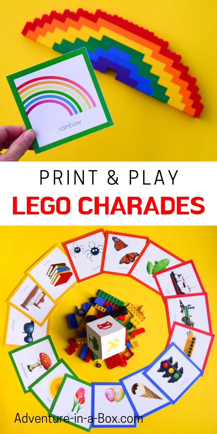 LEGO twist on the popular games of Charades or Pictionary - printable Lego Creationary Game