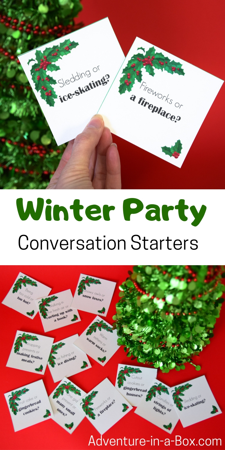 do you want a lively conversation going at your christmas gathering or new year party