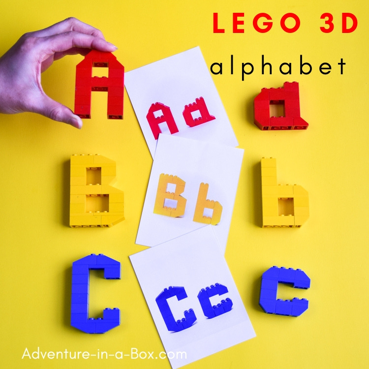 Combine early literacy with STEM and teach the alphabet in a playful hands-on way with these printable LEGO challenge cards!