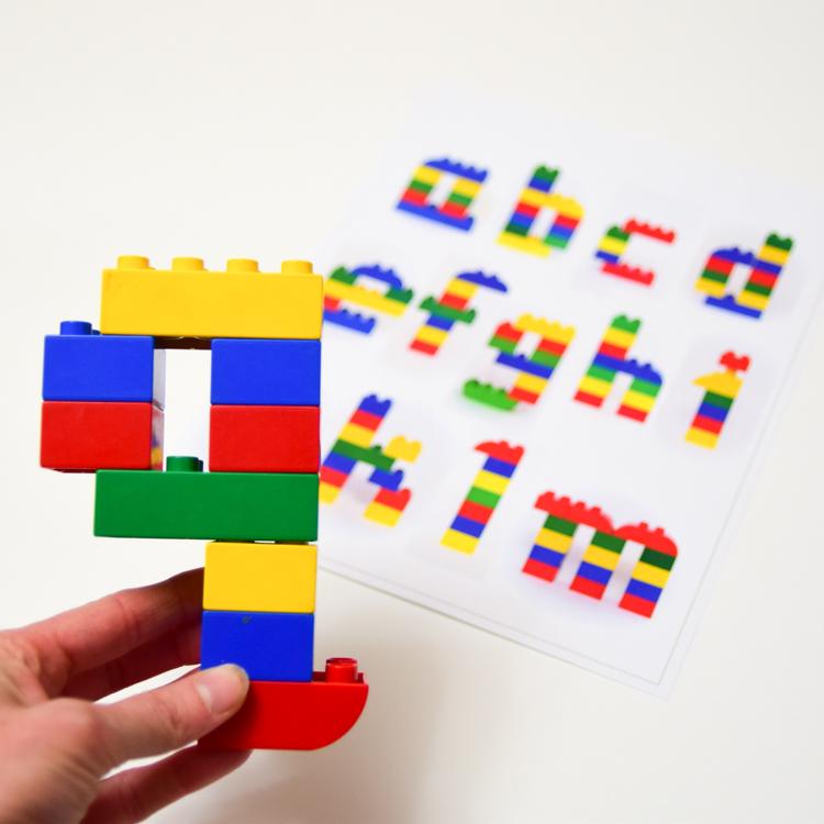 photograph regarding Lego Letters Printable named LEGO Duplo Alphabet Mats: Uppercase Lowercase Letters