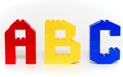 LEGO Alphabet Mats with 3D Letter Instructions