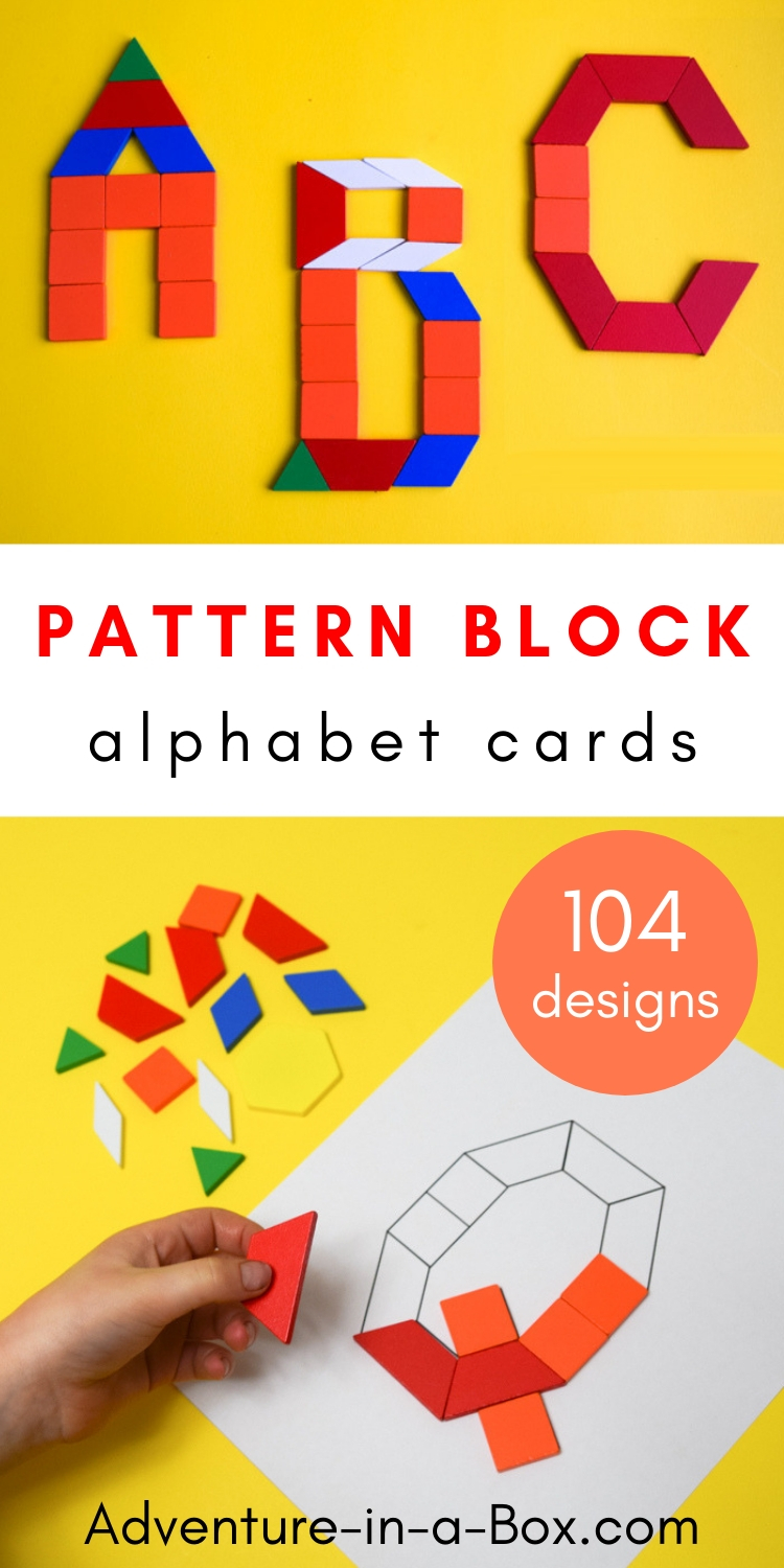 picture regarding Printable Pattern Block Templates identify Behavior Block Alphabet: Printable Situation Playing cards