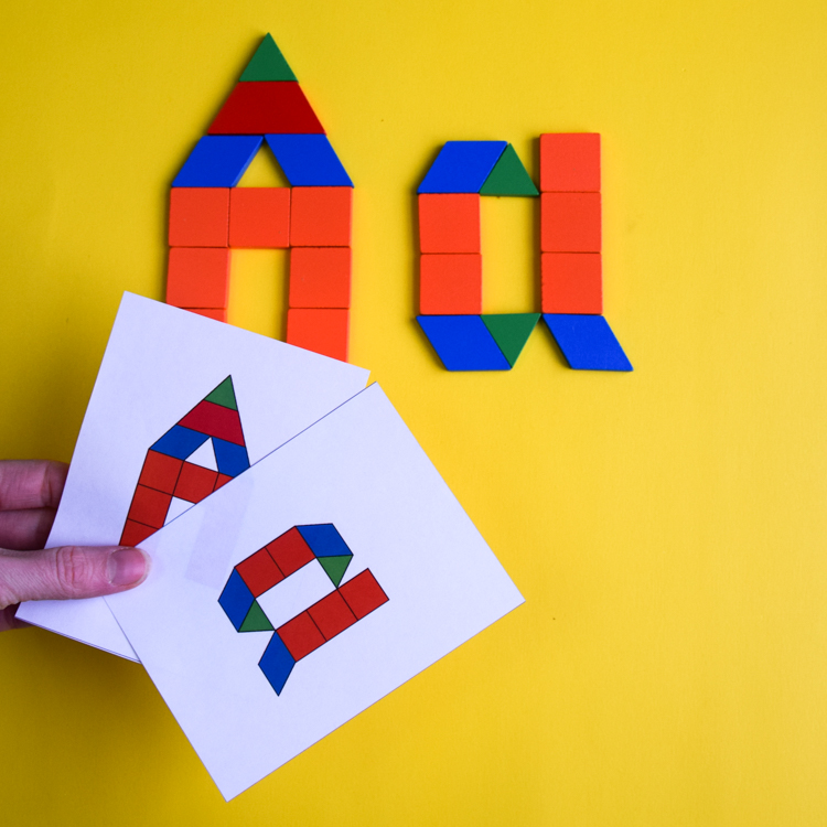 photo relating to Printable Pattern Blocks called Behavior Block Alphabet Printable Playing cards
