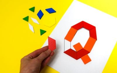 Pattern Block Alphabet: Printable Challenge Cards