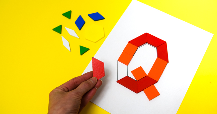 Pattern Block Alphabet: Printable Challenge Cards
