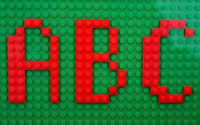 LEGO 2D Alphabet: Printable Cards with Uppercase & Lowercase Letters