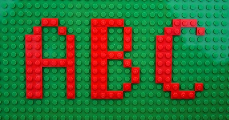 2D LEGO Alphabet Mats