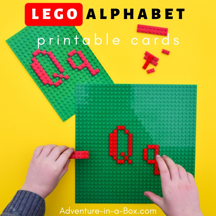 Teach your children the alphabet in a playful hands-on way with the printable LEGO alphabet cards!