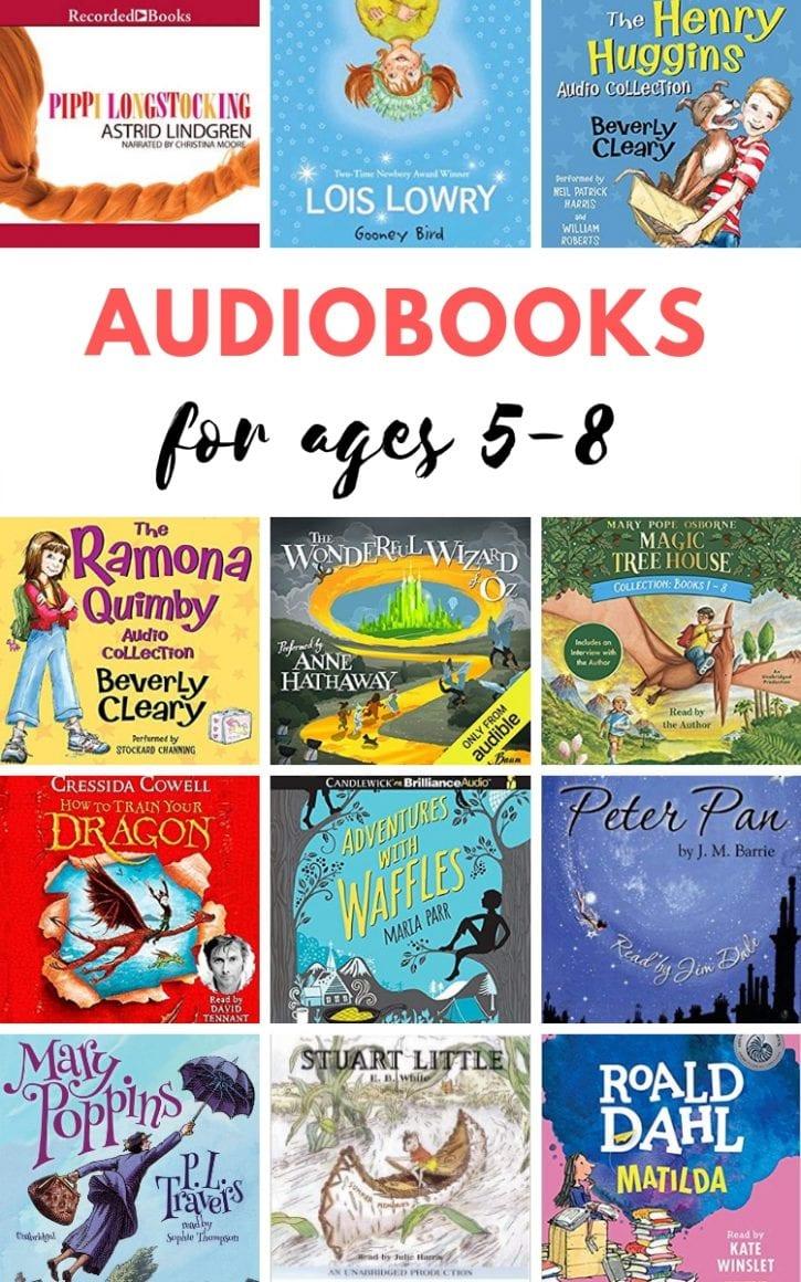Best audiobooks for kids, aged 5-8