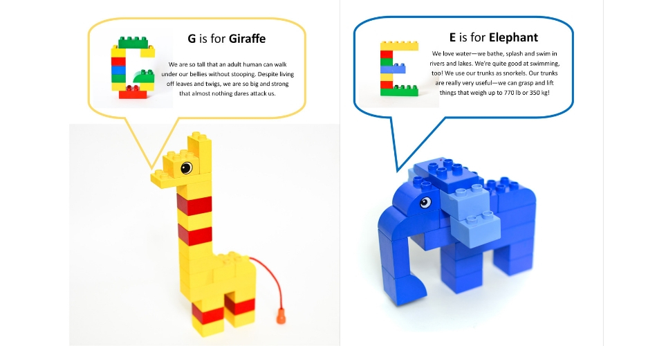 photo about Lego Letters Printable named Lego Duplo Animal Alphabet with Cost-free Printable Playing cards