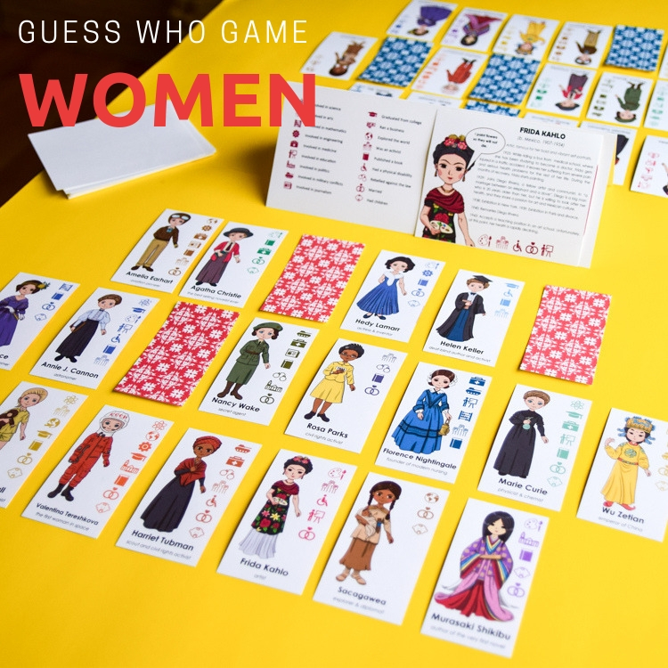 Women in History Guess Who Game for Kids