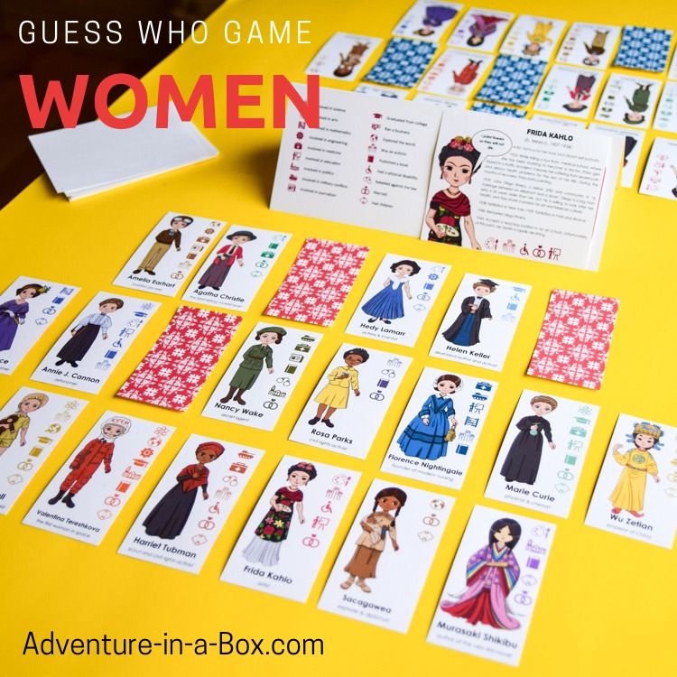 Famous Women in History Guess Who Game