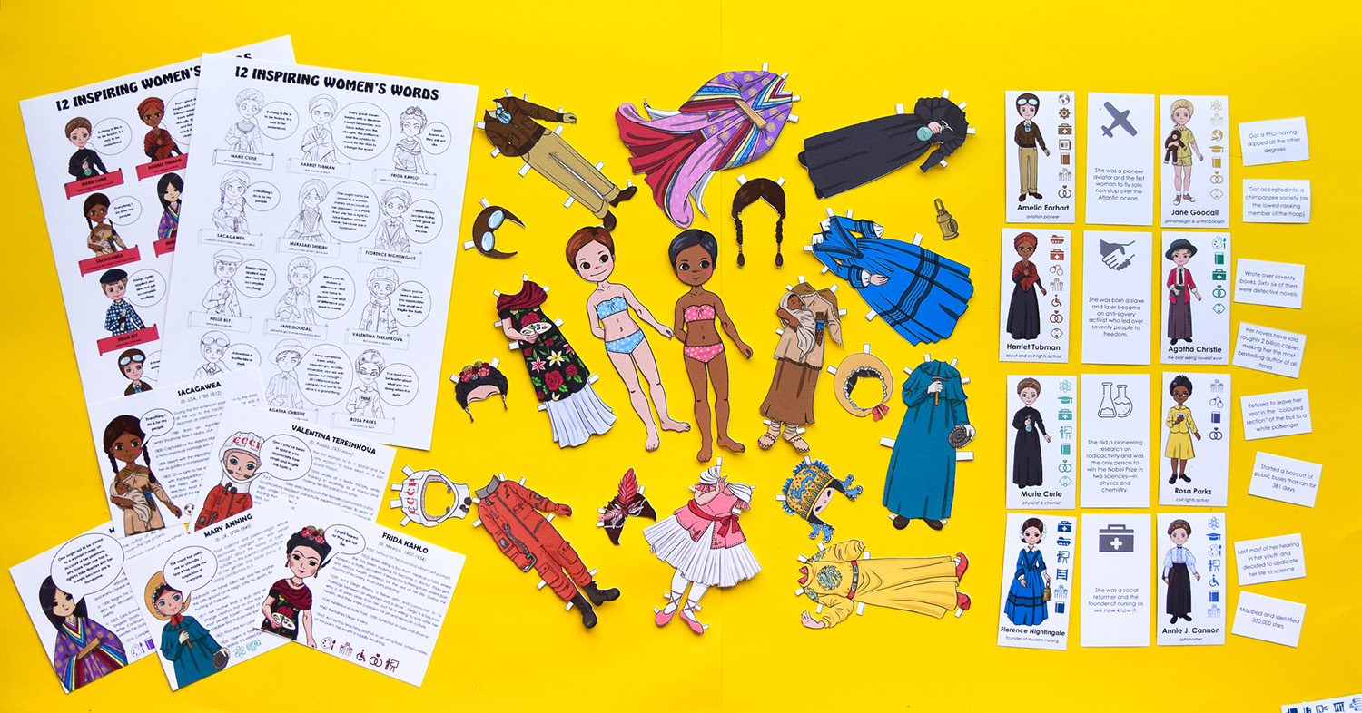 Famous Women in History for Kids: bundle of games and educational activities