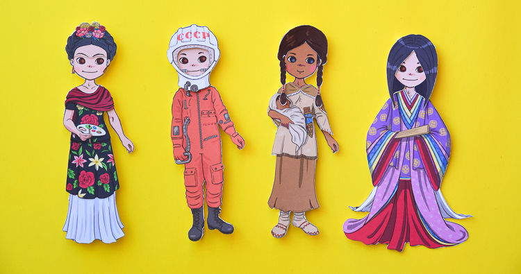Amazing Women in History: Printable Dress-Up Paper Dolls