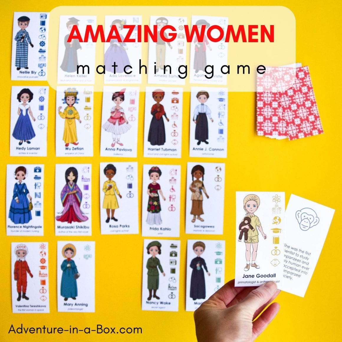 Amazing women matching game for kids
