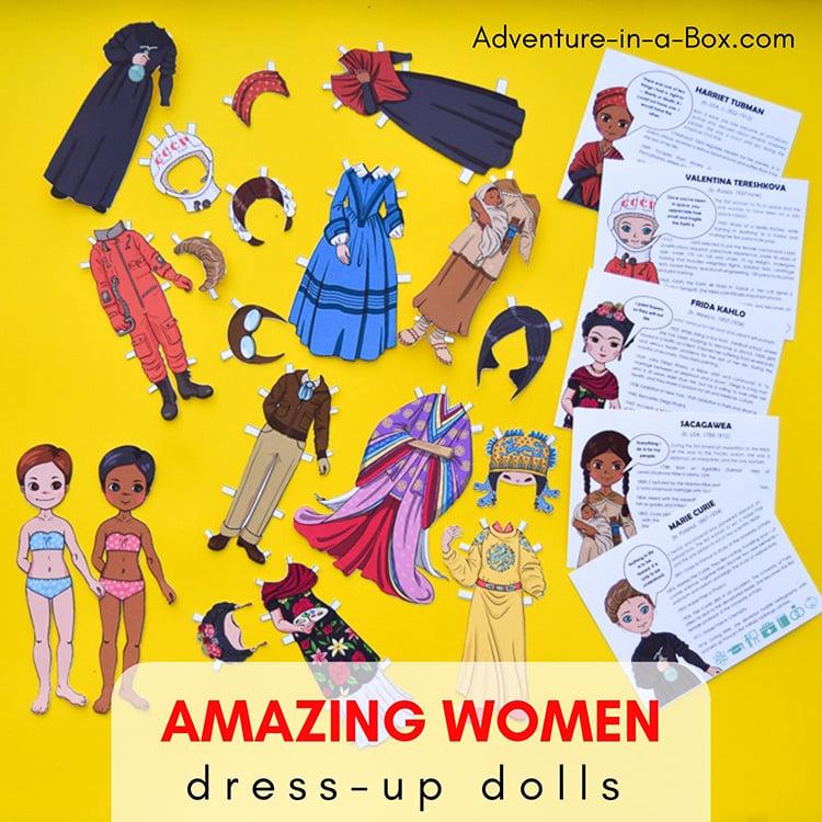 Famous Women in History: 20 Paper Dolls