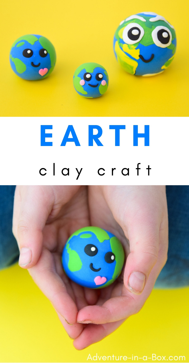 Celebrate Earth Day with kids by making this Earth craft from air-dry clay! #earthday #earth #airdryclay #kidscrafts