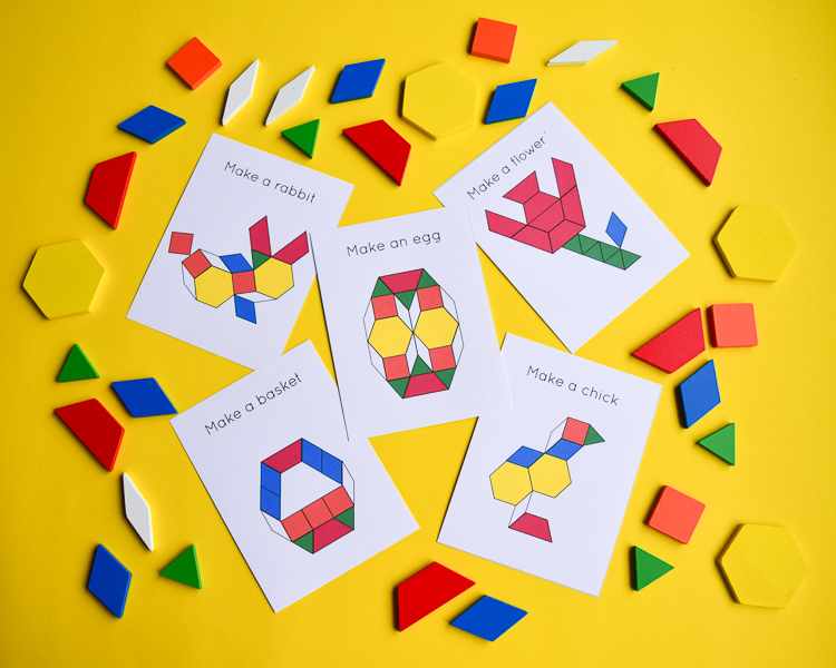 Easter Spring Pattern Block Design Templates Adventure In A Box
