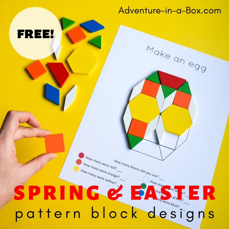 picture about Printable Pattern Blocks known as Easter Spring Behavior Block Style and design Templates Journey