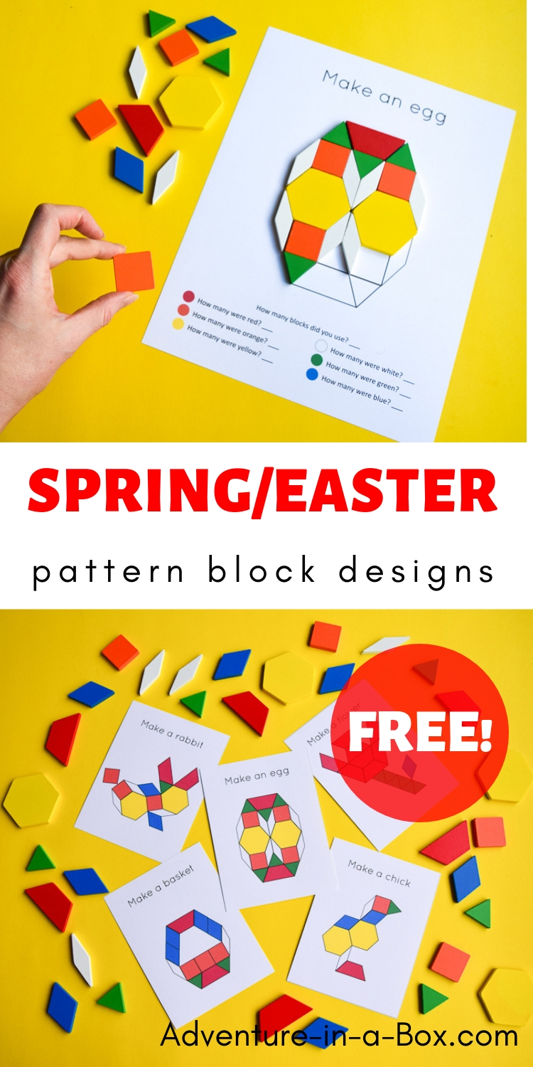 photo about Printable Pattern Blocks titled Easter Spring Behavior Block Structure Templates Experience