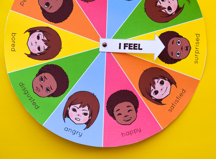 photo relating to Free Printable Pictures of Emotions called Free of charge Printable Temper Sensation Wheel Chart for Little ones