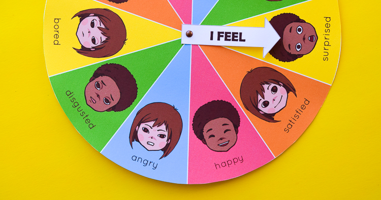 Free Printable Mood & Emotion Wheel Chart for Children