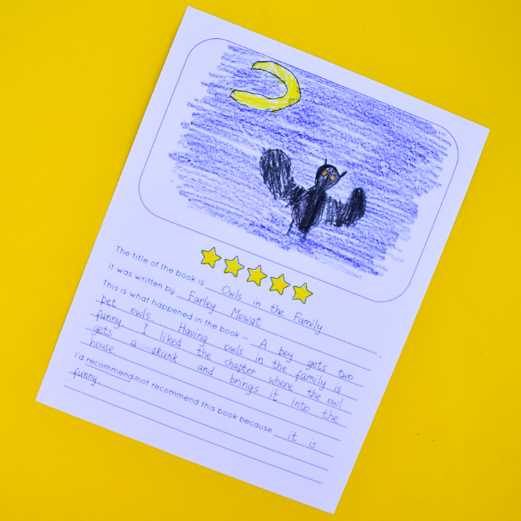 Owls in the Family by Farley Mowat book review written by a 6-year-old kid